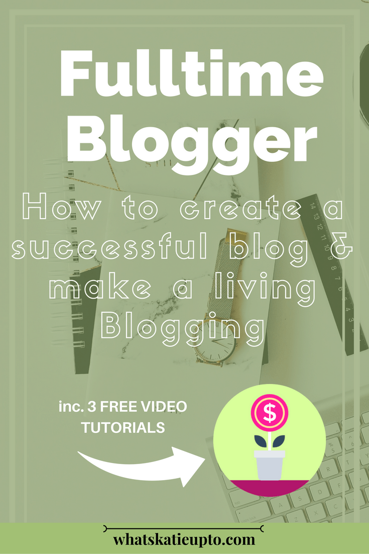 Fulltime Blogger, make money blogging, affiliate marketing, money