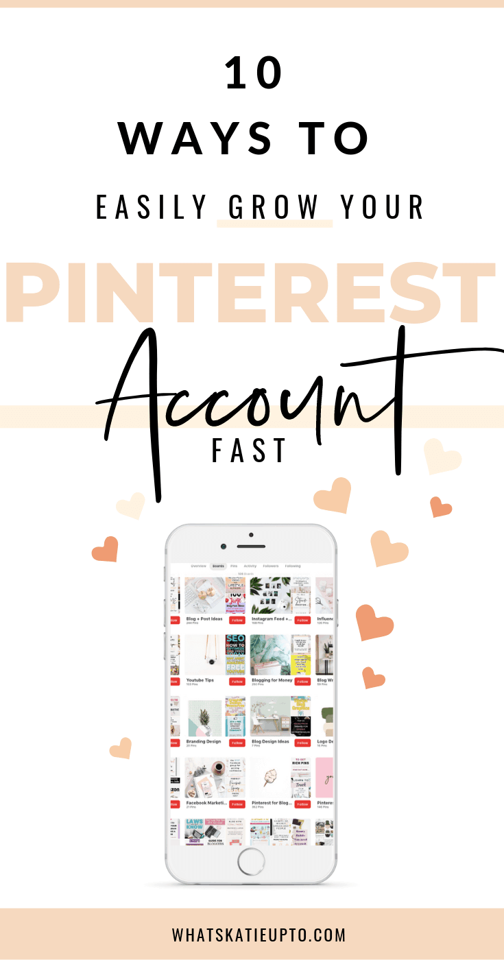 grow your Pinterest Account