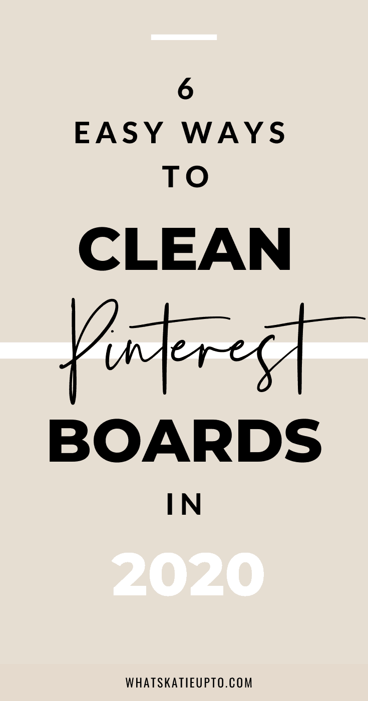 clean up Pinterest Boards